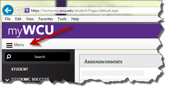 find enrollment certification in myWCU search