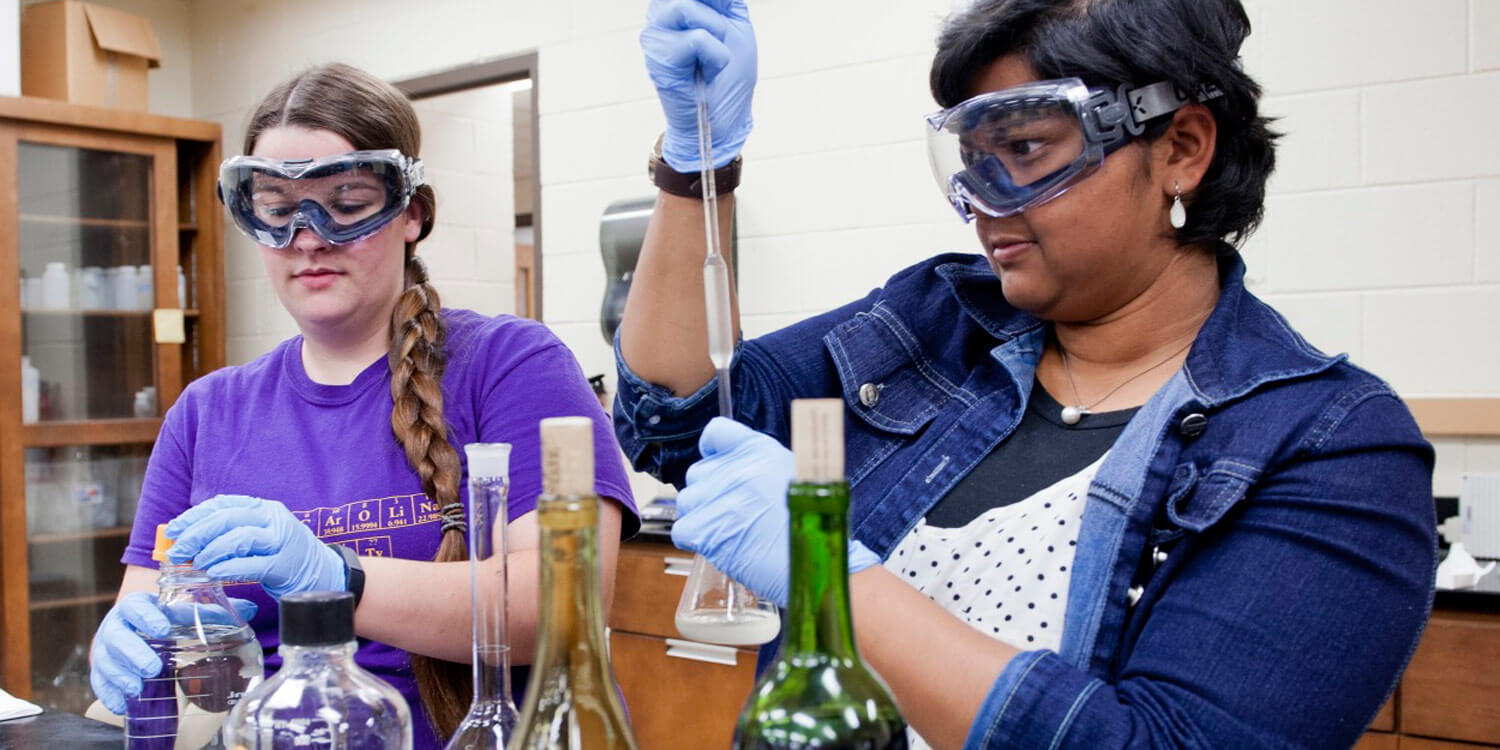 Students do wine research